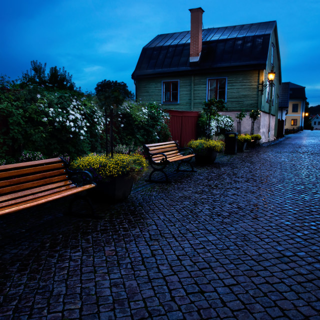 """""""Bench in the street"""" stock image"""