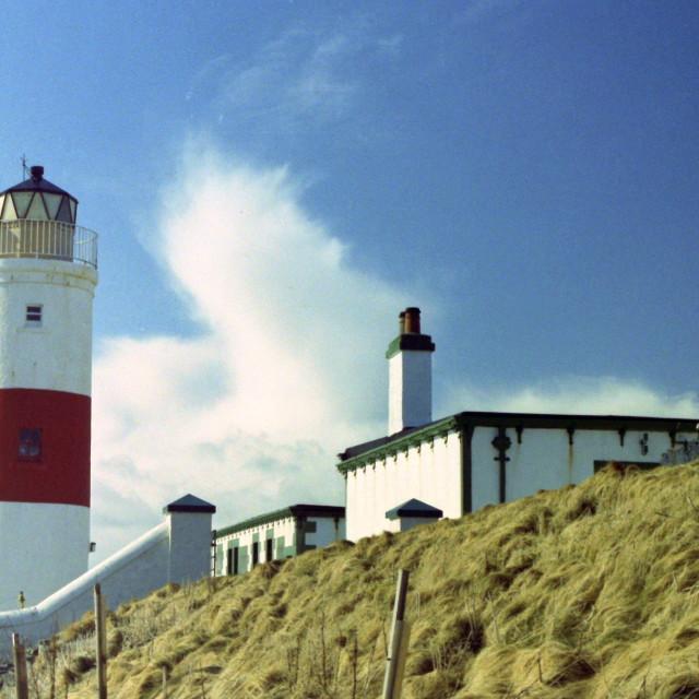 """Clythness Lighthouse"" stock image"