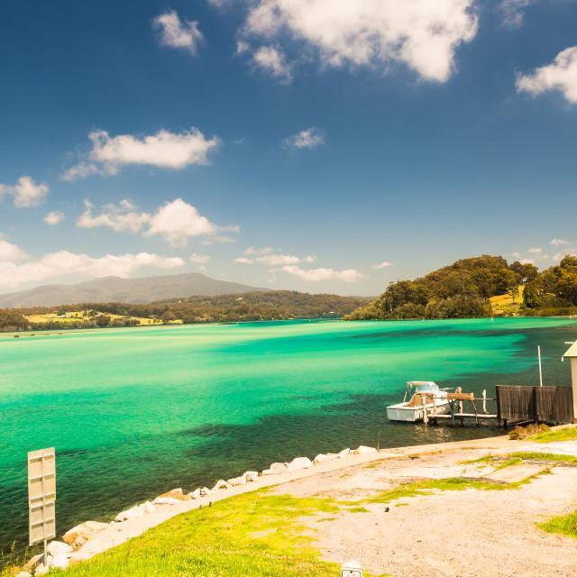 """Blue Lagoon Landscape"" stock image"