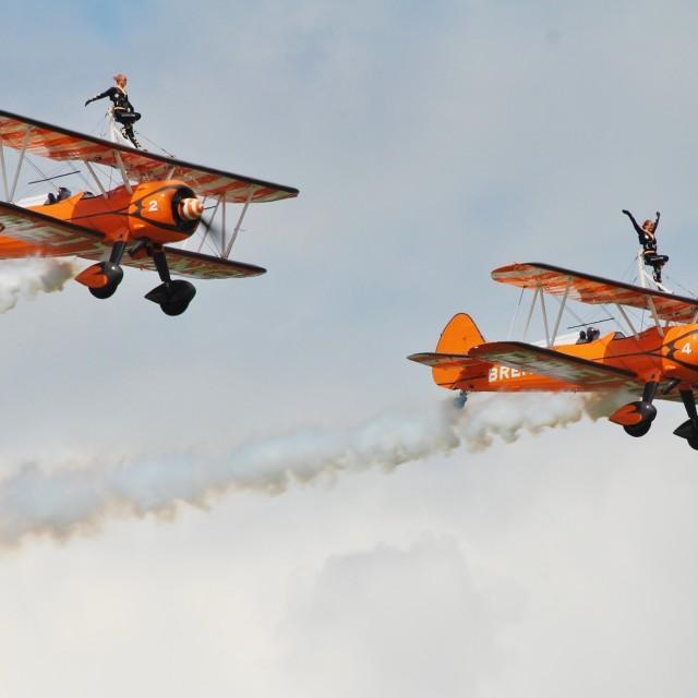 """Breitling wingwalking team"" stock image"