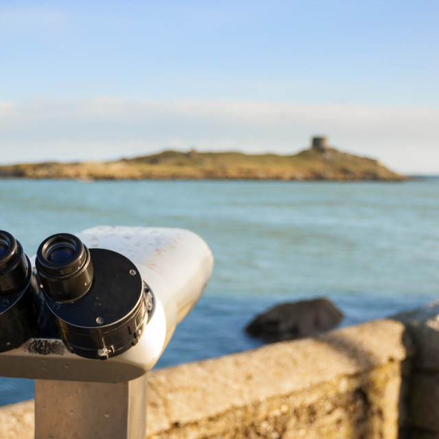 """binoculars by the Sea"" stock image"