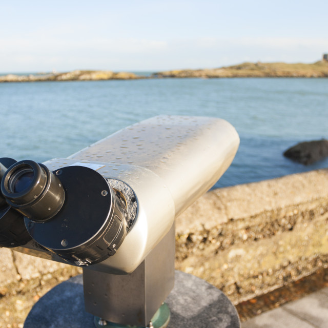 """binoculars by the Sea"" stock image"
