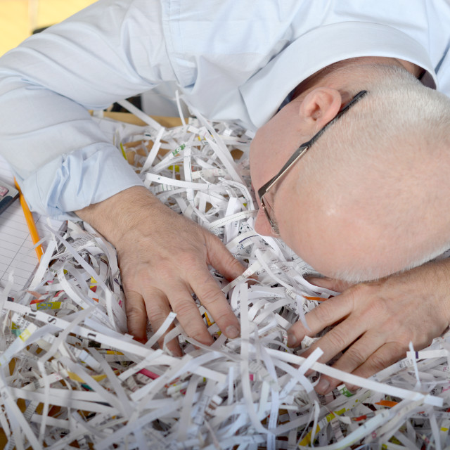 """""""businessman asleep at his office"""" stock image"""