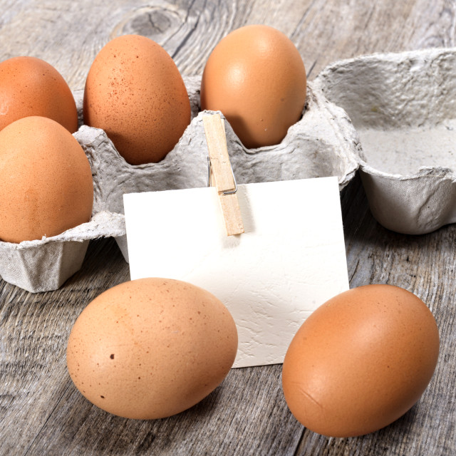 """eggs in a box"" stock image"