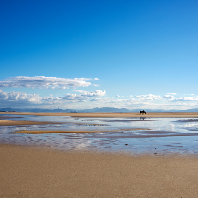 """Los Lances Beach. Tarifa, Cadiz, Spain"" stock image"