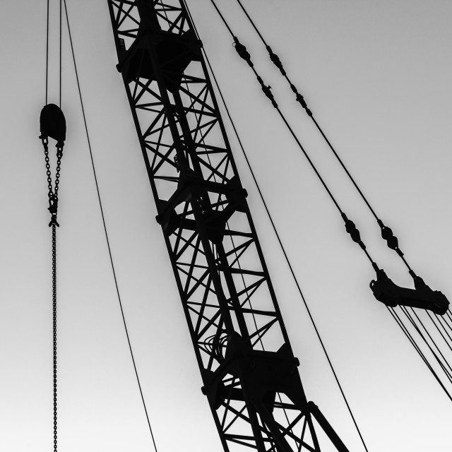 """""""Crane Cables Rigging Abstract"""" stock image"""