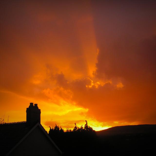 """""""Spectacular Sunrise"""" stock image"""