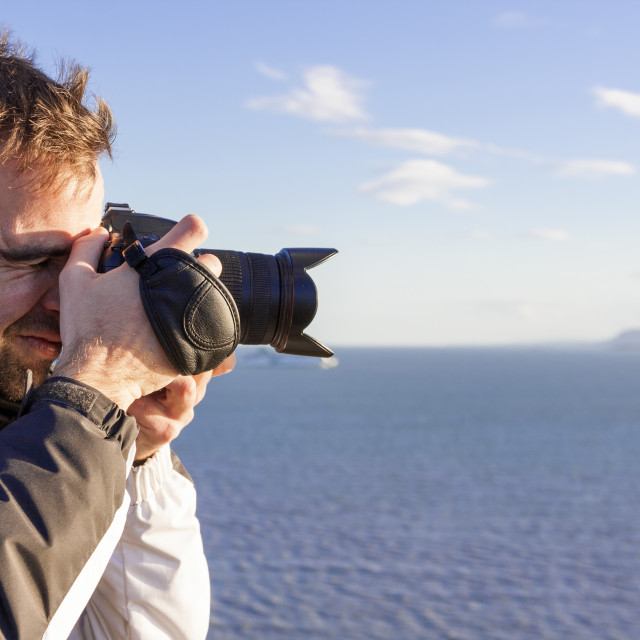 """Young adult photographing"" stock image"