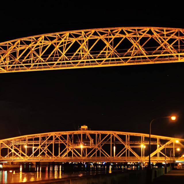 """Lift Bridge"" stock image"