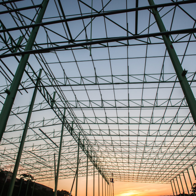 """Steel Frame Building Structure"" stock image"