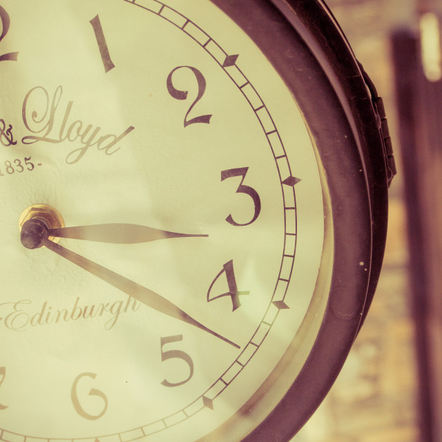 """""""Clock at early afternoon"""" stock image"""