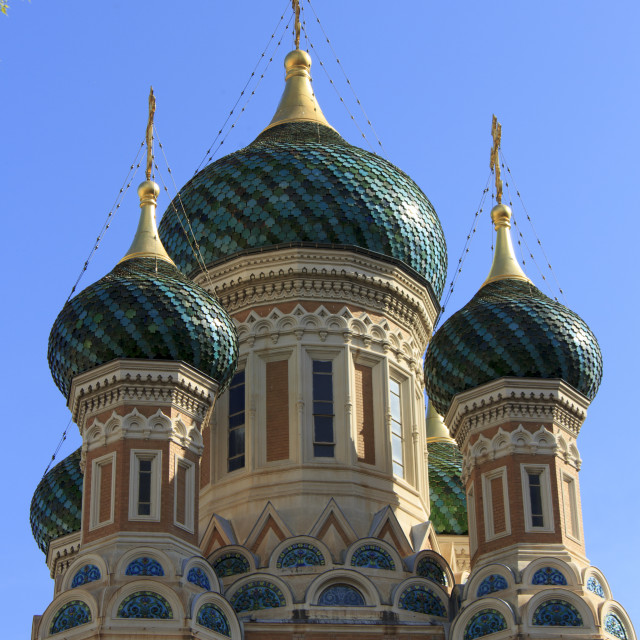 """Russian Orthodox Cathedral, Nice"" stock image"