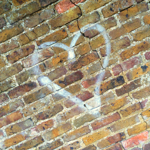 """Love Heart Graffiti"" stock image"