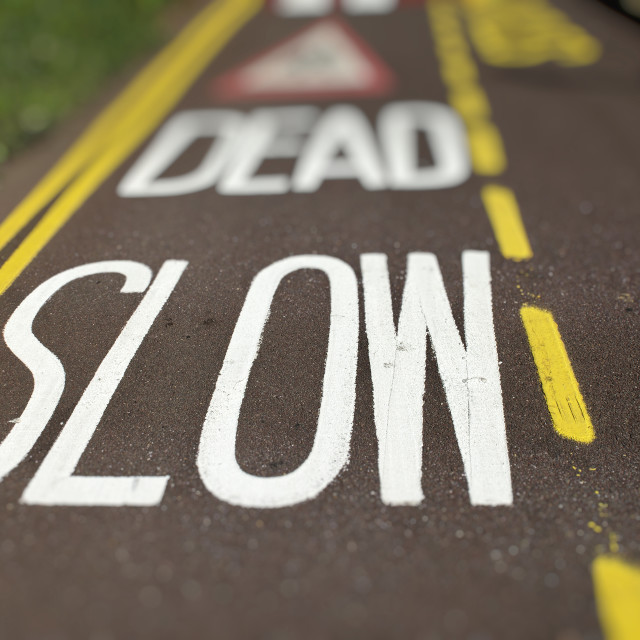 """Traffic Calming Measures"" stock image"