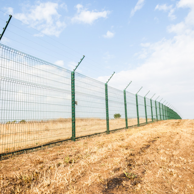 """""""Fence Electrical"""" stock image"""