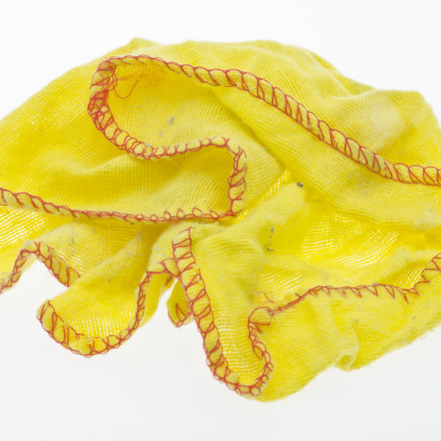 """Yellow Duster Cloth"" stock image"