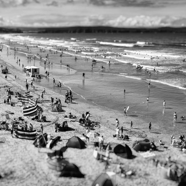 """Woolacombe beach"" stock image"