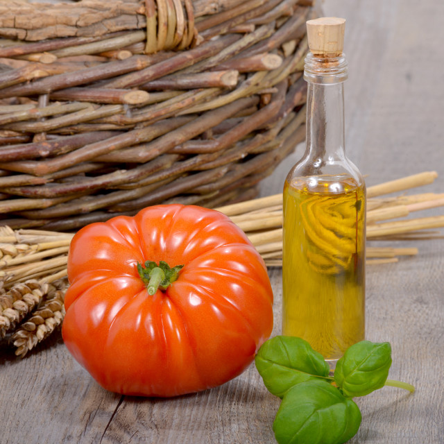"""""""tomato with olive oil"""" stock image"""