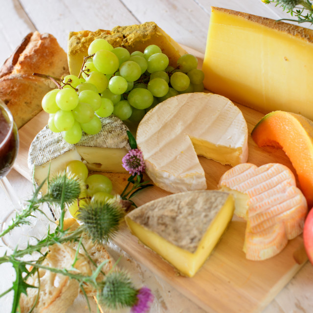 """french cheese tray"" stock image"