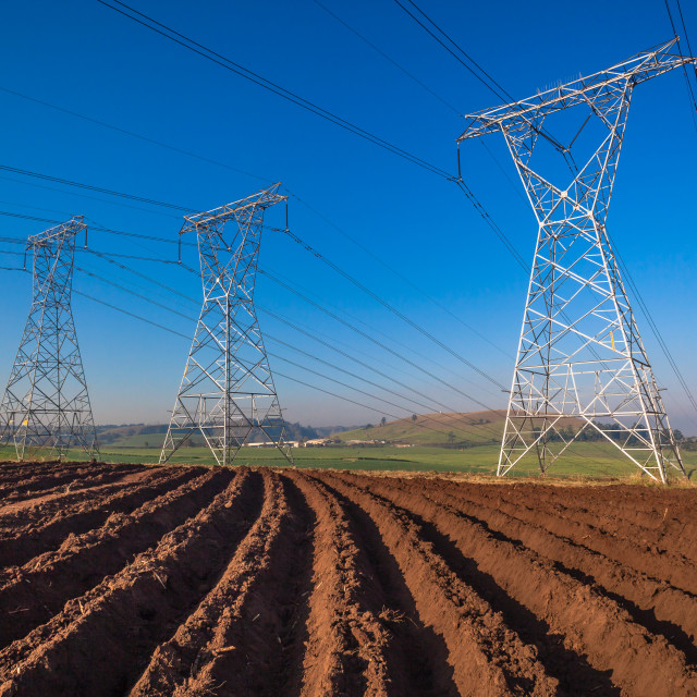 """Electrical Power-Lines"" stock image"