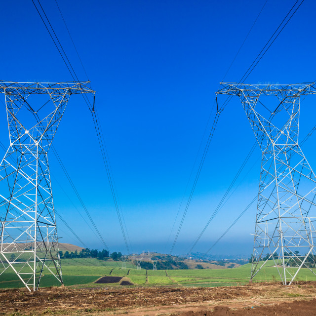 """Electricity Towers"" stock image"