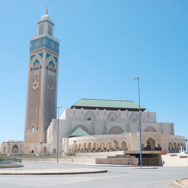 """Hassan II Mosque, Casablanca, Morocco"" stock image"