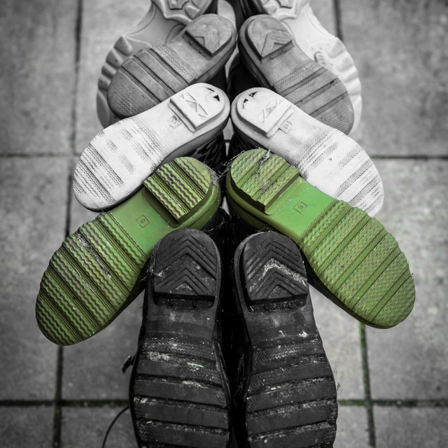 """Foot Prints"" stock image"