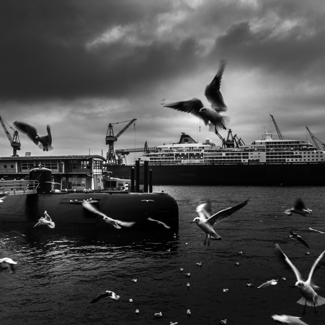 """Harbor of Hamburg, Germany, Europe"" stock image"