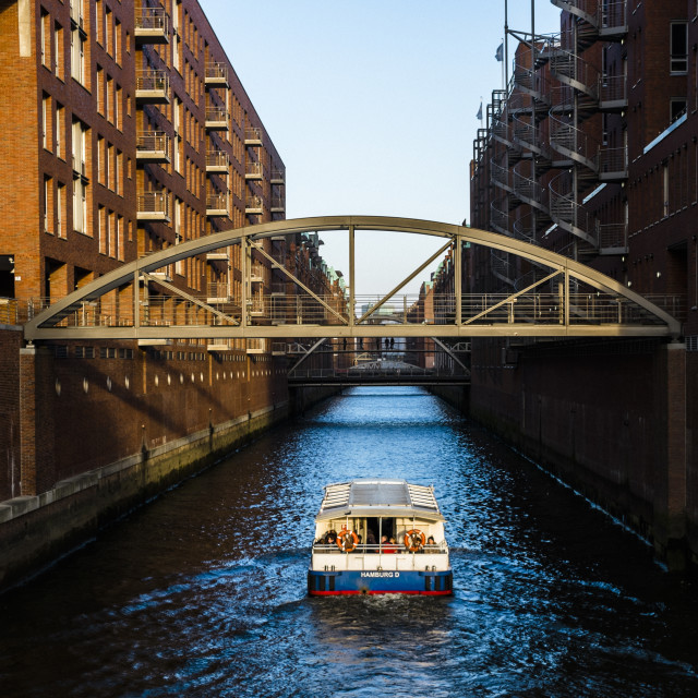 """View of famous Speicherstadt in Hamburg, Germany"" stock image"