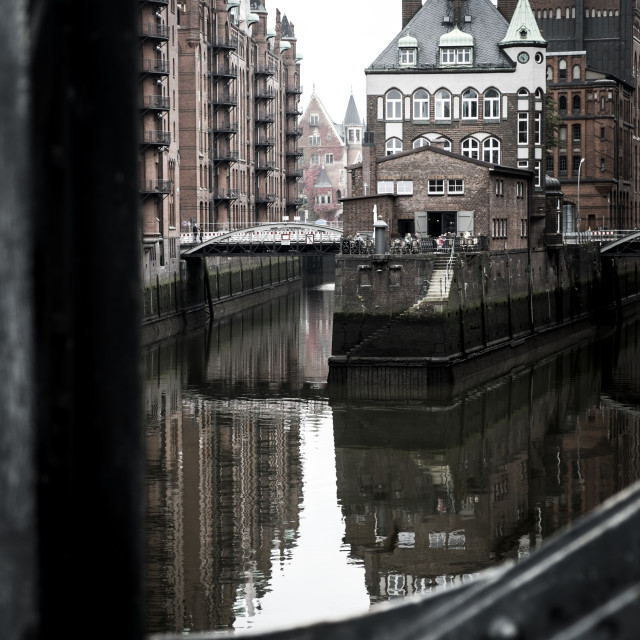 """""""view of famous Speicherstadt in Hamburg, Germany"""" stock image"""