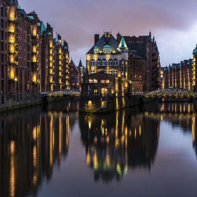 """Speicherstadt, part of Hafen City, Hamburg/Germany."" stock image"