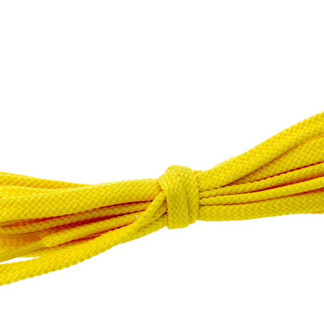 """""""Pair of Yellow Shoe Laces"""" stock image"""