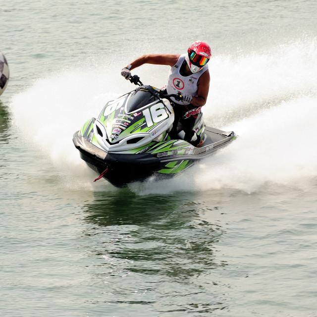 """""""In full race"""" stock image"""