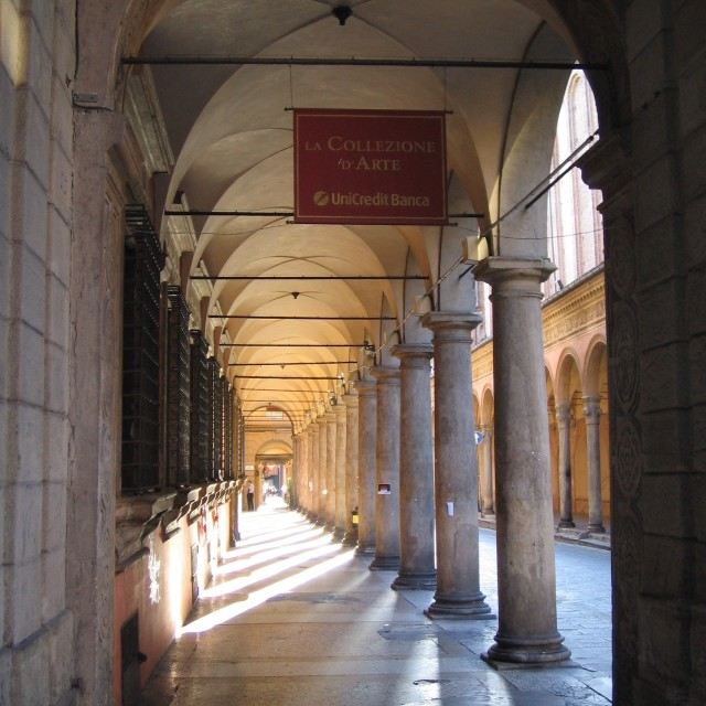 """The Porticoes of Bologna"" stock image"