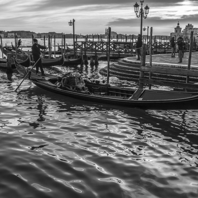 """Venice sunset"" stock image"