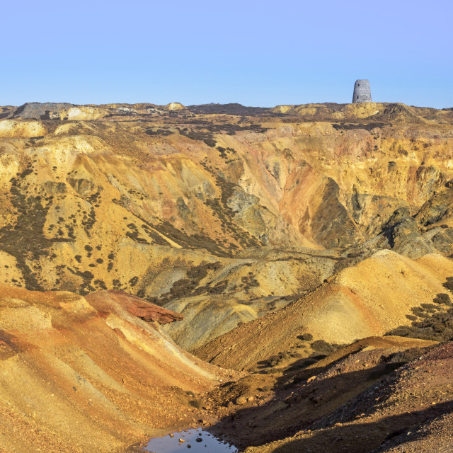 """Great Opencast, Parys Mountain"" stock image"
