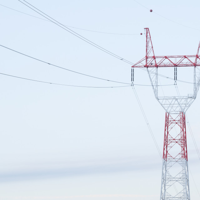 """Electricity Pylon Closeup"" stock image"