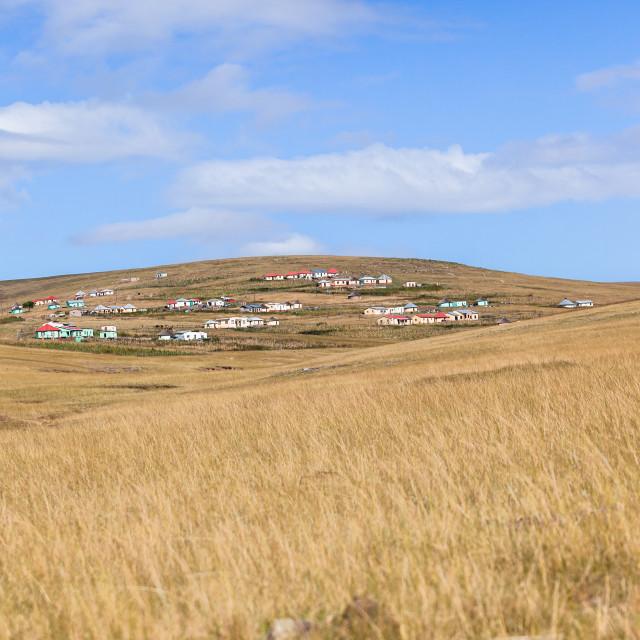 """Homes African Landscape"" stock image"