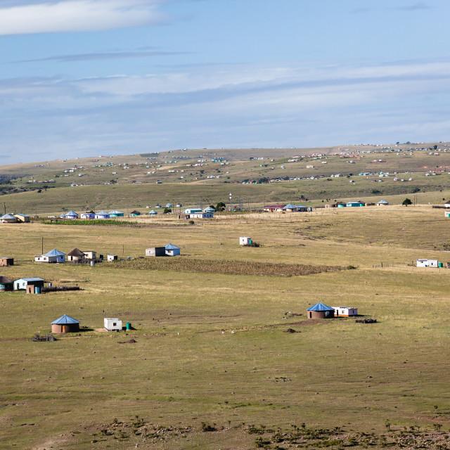 """African Homes Landscape"" stock image"