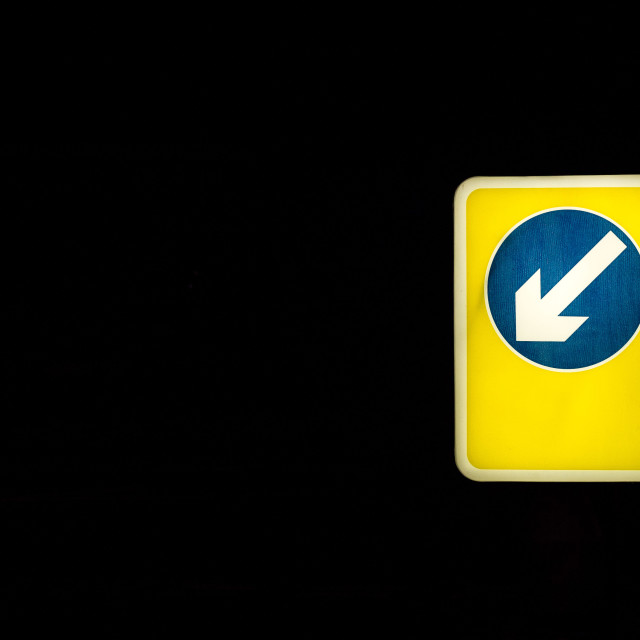 """Glowing arrow"" stock image"