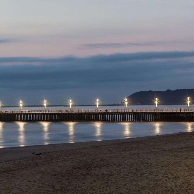 """Pier Light Ocean"" stock image"