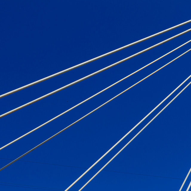 """Cables Abstract Blue"" stock image"