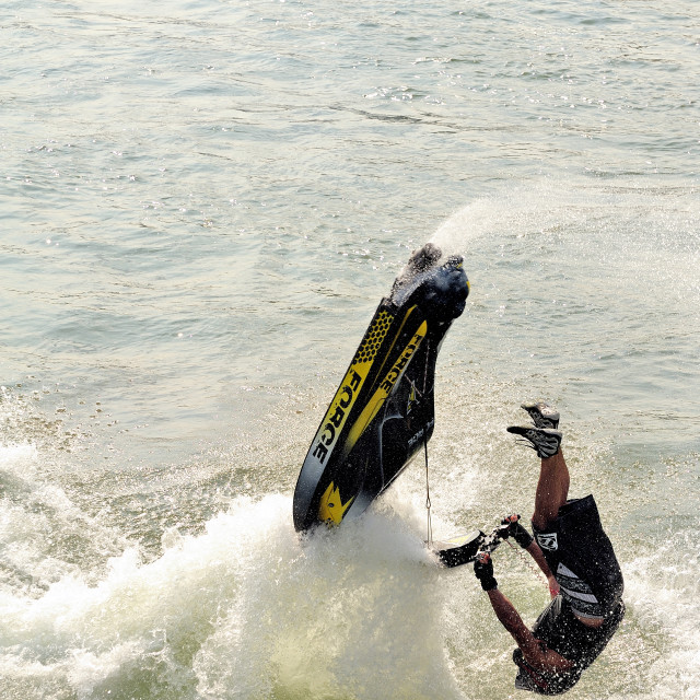 """Lifting Jetski"" stock image"