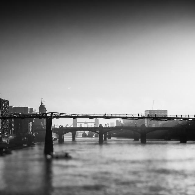 """Shard and Thames"" stock image"