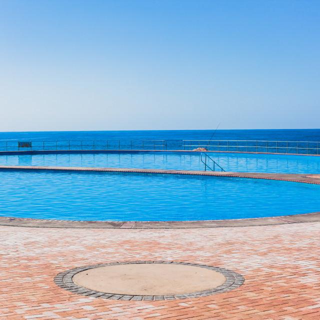 """""""Swim Pool Ocean"""" stock image"""