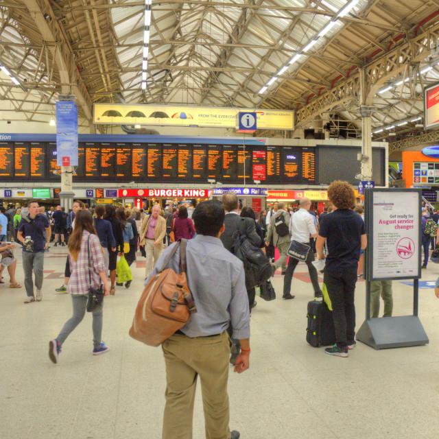 """London Victoria Train Station"" stock image"