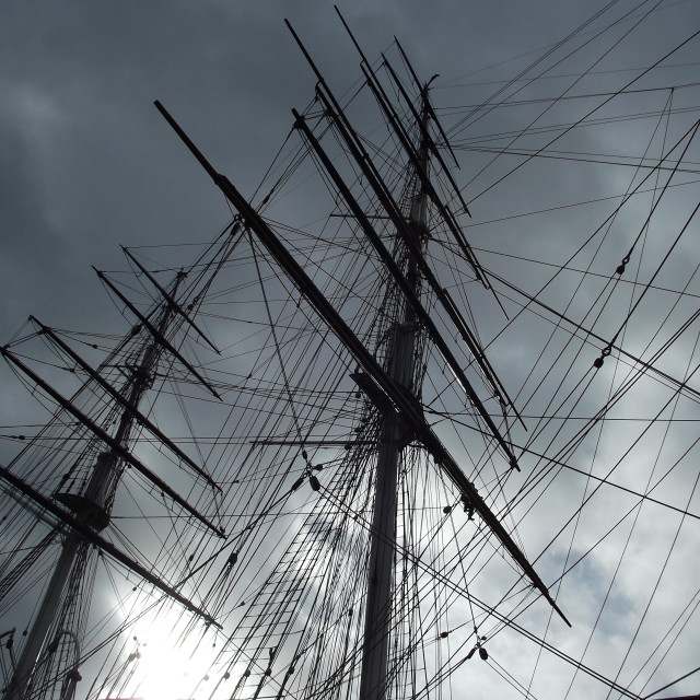 """""""Sail Rigs of a Ship"""" stock image"""