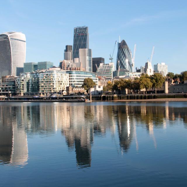 """City of London Reflecting"" stock image"