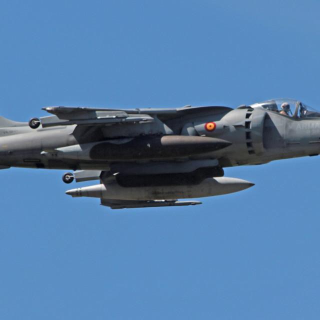"""""""Boeing AV-8B Harrier II Spanish Navy"""" stock image"""