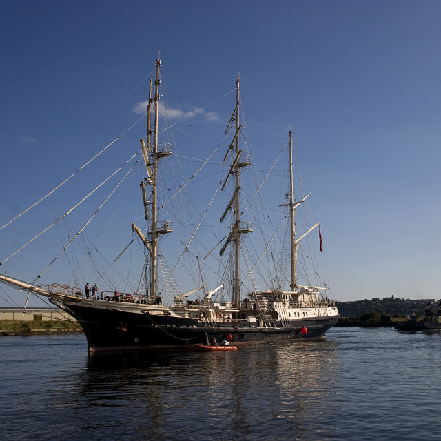 """Tall Ship Tenacious"" stock image"